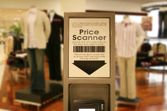 Price Scanner at Mall. A photo of a price scanner a a shopping mall Royalty Free Stock Photography
