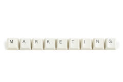 Price from scattered keyboard keys on white Royalty Free Stock Photography