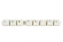 Price from scattered keyboard keys on white Stock Images