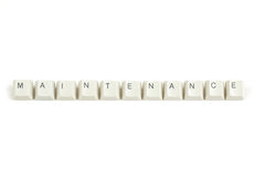 Price from scattered keyboard keys on white Royalty Free Stock Photos