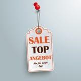 Price Sticker Angebot Red Thumbtack Royalty Free Stock Image