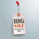 Price Sticker Big Sale Red Thumbtack Stock Image