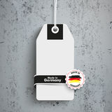 Price Sticker Label Made In Germany concrete Royalty Free Stock Images