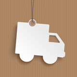 Price Sticker Shipping Car Cardboard Royalty Free Stock Photography