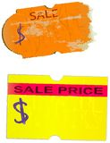 Price stickers, Royalty Free Stock Images
