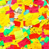 Price stickers. Plenty of colorful price stickers Royalty Free Stock Photography
