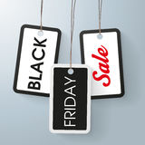 3 price stickers black friday sale. 3 price stickers with text Black Friday Sale Royalty Free Stock Photo