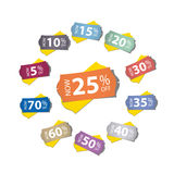 Price stickers Stock Photography