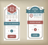 Price table. Vector Price table vintage for service promotion Stock Image