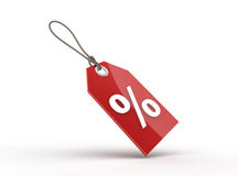 Price tag. With a percentage sign. Digitally generated image Stock Images