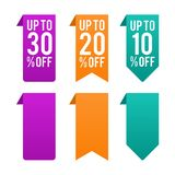 Price Tag Banner, Label, Coupon, Sticker Set. stock illustration