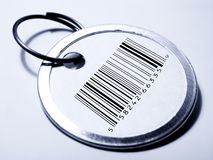 Price Tag with barcode Stock Photo