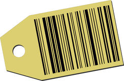 Price tag with a barcode Stock Photo