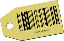 Price tag with a barcode. Illustration of a price tag with a barcode stock illustration