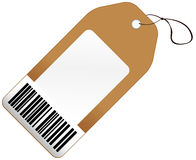 Price tag with barcode royalty free illustration