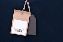 Price tag with barcode Royalty Free Stock Image