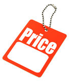 Price tag with copy space Royalty Free Stock Images