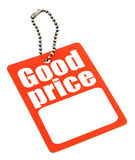 Price tag with copy space Stock Images