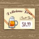 Price Tag Design Craft Beer Stock Image