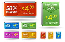 Price tag and discount card. Royalty Free Stock Photography