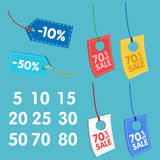 Price tag discount illustration for supermarket Royalty Free Stock Image