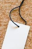Price tag on fabric Royalty Free Stock Photos