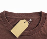 Price tag hang over tshirt Royalty Free Stock Image