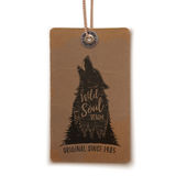 Price tag with howling wolf. Royalty Free Stock Photo