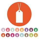The price tag icon. Label symbol. Flat Royalty Free Stock Photos