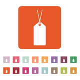 The price tag icon. Label symbol. Flat Stock Image