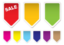 Price tag icons Royalty Free Stock Image
