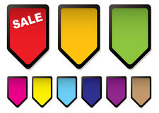 Price tag icons black Stock Images