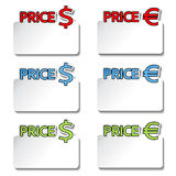 Price-tag item - stickers Stock Photography