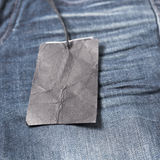 Price tag on jean. Clothing and accessories Royalty Free Stock Images