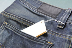 Price tag of jeans Royalty Free Stock Images