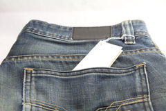 Price tag of jeans Stock Photos