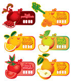 Price tag for juice Royalty Free Stock Image