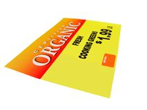 Price Tag Label 3. High resolution photograph of a merchandise price tag royalty free illustration