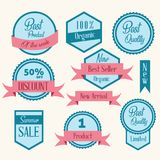 Red Blue Price and promotion tag Vector Vector Illustration