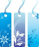 Price tag label set. Blue flower price tag label set. Many decorative elements. Isolated on a white background. Vector will be aditional Stock Image