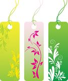 Price tag label set. Green flower price tag label set. Many decorative elements. Isolated on a white background Royalty Free Stock Photography