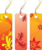 Price tag label set. Orange flower price tag label set. Many decorative elements. Isolated on a white background. Vector will be aditional Stock Photo