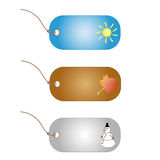 Price tag / label for summer, autumn and winter sa. Le isolated on a white background Royalty Free Stock Photos
