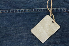 Price Tag Over Jeans Stock Photos