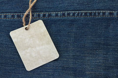 Price Tag Over Jeans Stock Images