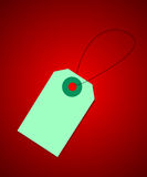 Price tag on red background Royalty Free Stock Image