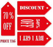 Price tag Season of Sale. Royalty Free Stock Photography