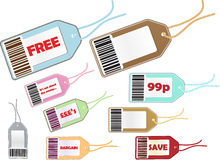 Price tag selection Royalty Free Stock Images