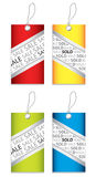 Price tag set. With special design royalty free illustration