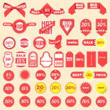 Price Tag Set, stickers and badges. Vector illustration. Royalty Free Stock Photos